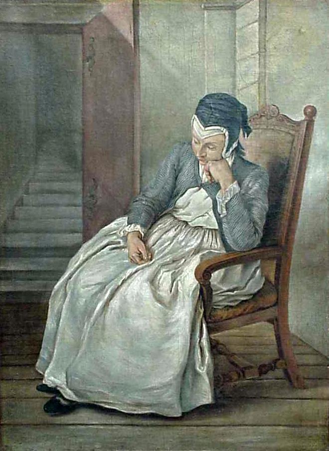 Kobieta w Fotelu - Charles Francois Hutin