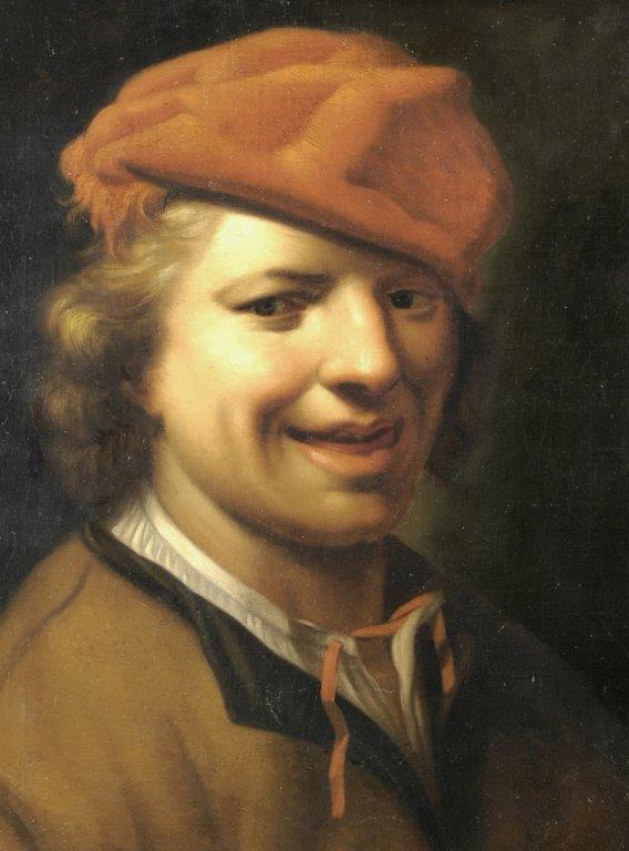 XVIII-wieczny portret śmiejącego się mężczyzny - Zrabowane i Odzyskane Obrazy