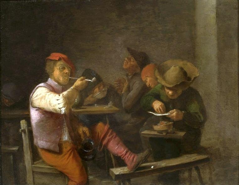 Chłopi w karczmie - Adriaen Brouwer - Zrabowane i odzyskane obrazy