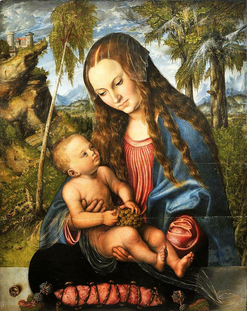 Madonna pod jodłami - Lucas Cranach