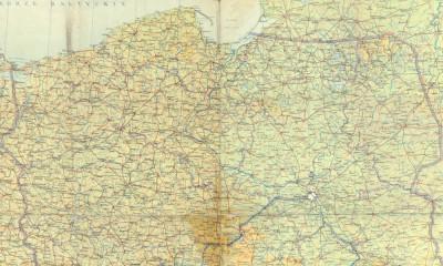 powojenna mapa polski