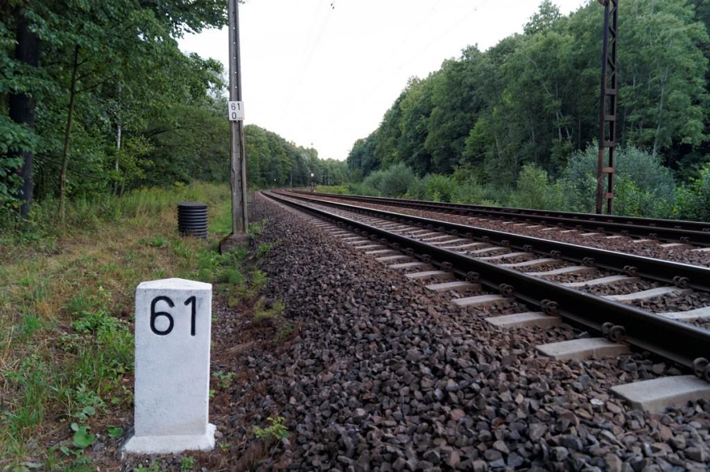 """Pierwszy z przypuszczalnych rejonów ukrycia """"złotego pociągu"""" - 61 km linii Wrocław-Wałbrzych"""