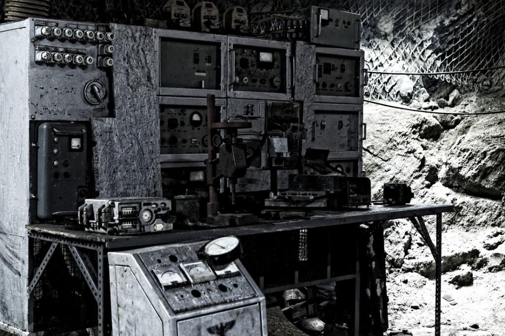 Urządzenie spotkane w podziemnej trasie.