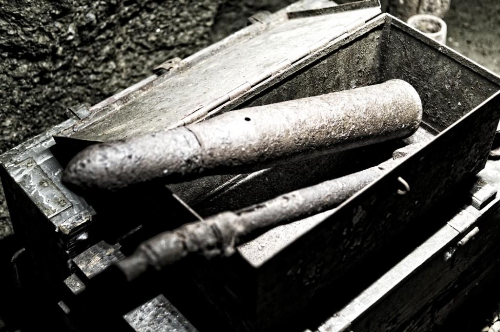 Amunicja z czasów wojny.