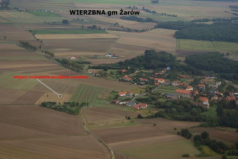 Miejsce znalezienia szczątków B-17 - Foto: Krzysztof Kobusiński