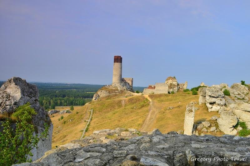 Zamek w Olsztynie - Szlak Orlich Gniazd - Foto: Grzegorz Posała