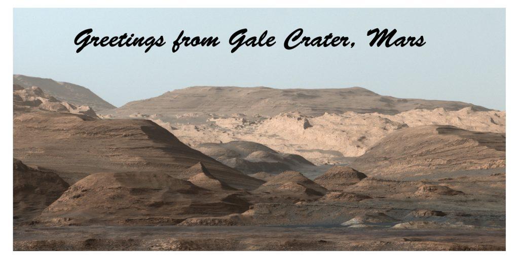 NASA przygotowała także pocztówkę z pozdrowieniami z Marsa - Foto: NASA/JPL-Caltech/MSSS
