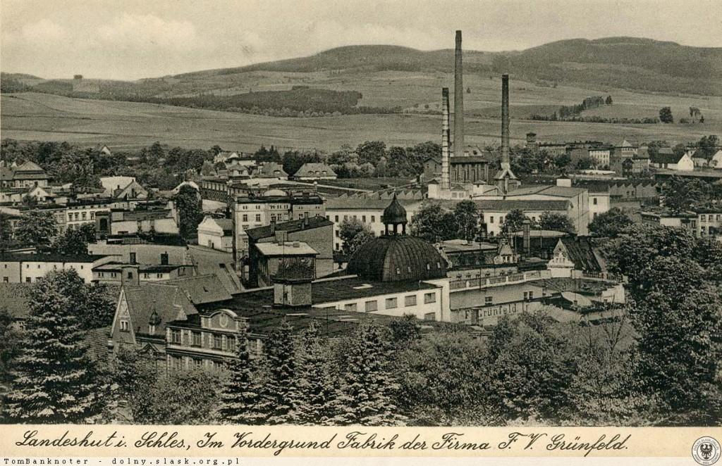 Przedwojenna panorama Kamiennej Góry - Źródło: dolny-slask.org.pl