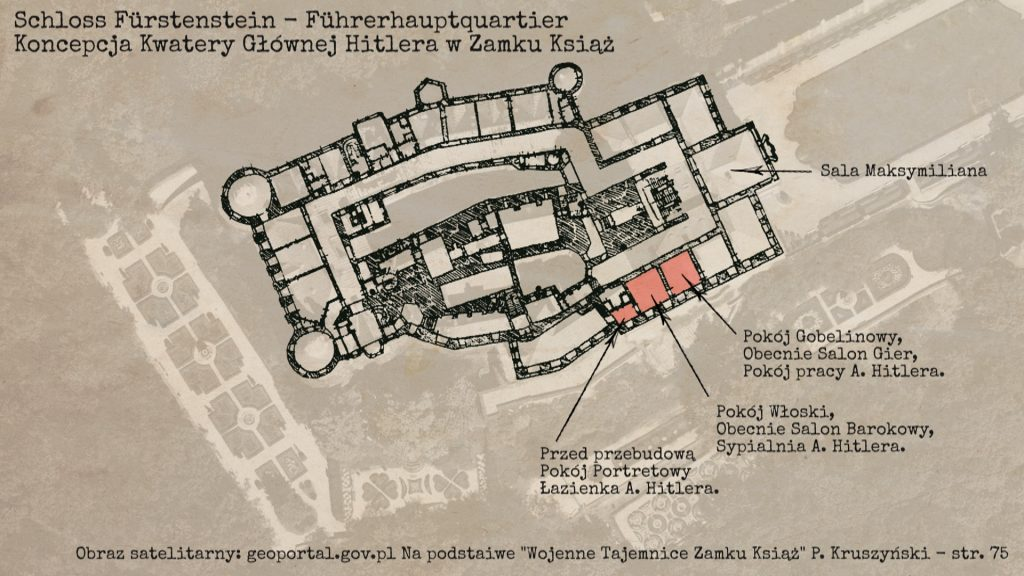 Kwatera Główna Hitlera i plan Zamku Książ