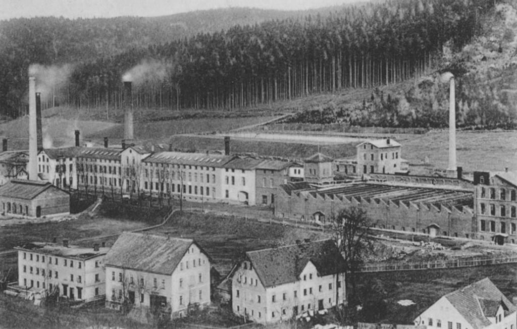 Dawne zakłady Meyer-Kauffmann Textilwerke - Tajne Fabryki Zbrojeniowe - Źródło: dolny-slask.org.pl