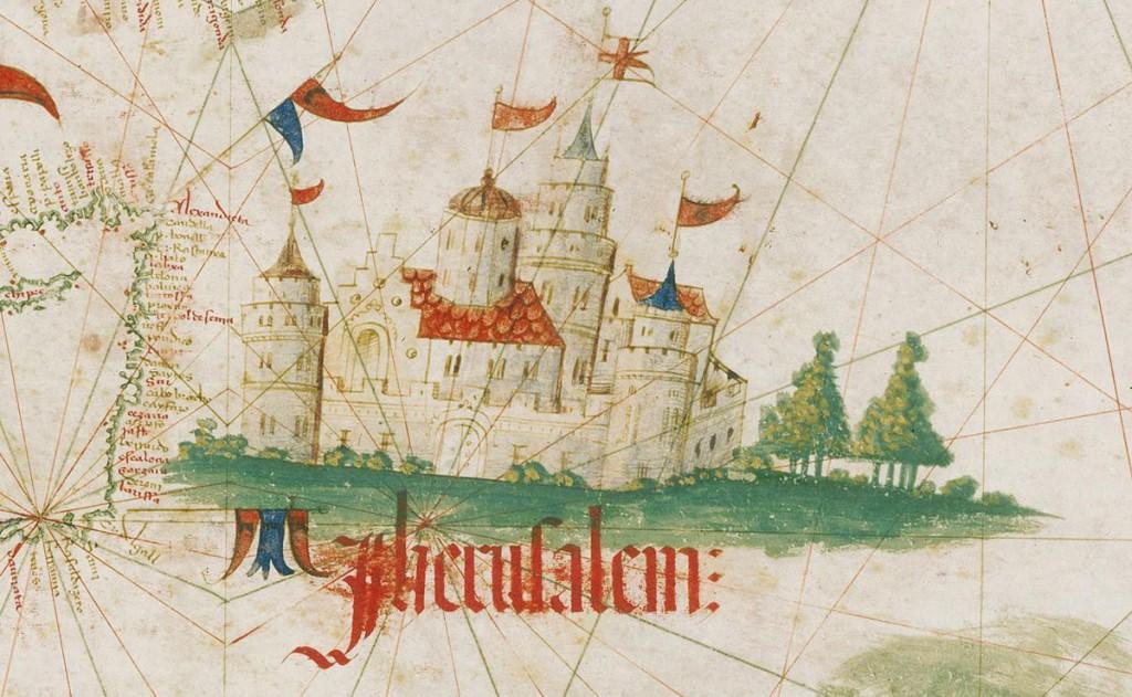 Jerozolima - Portugalska mapa świata z 1502 roku