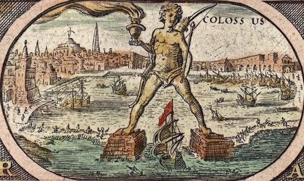Jeden z cudów starożytnego świata - Kolos z Rodos