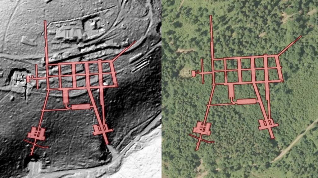 """Kompleks """"Osówka"""" - Obraz: Geoportal - Rzut Podziemi: Les7007"""