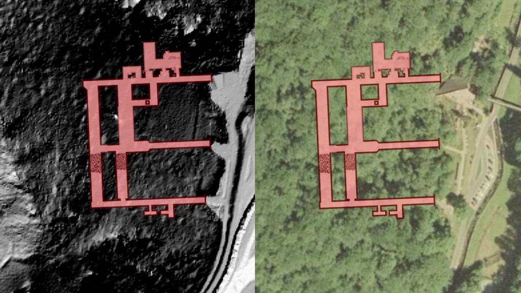 "Kompleks ""Rzeczka"" - Obraz: Geoportal - Rzut Podziemi: Les7007"