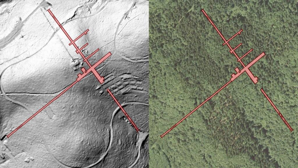 """Kompleks """"Soboń"""" - Obraz: Geoportal - Rzut Podziemi: Les7007"""
