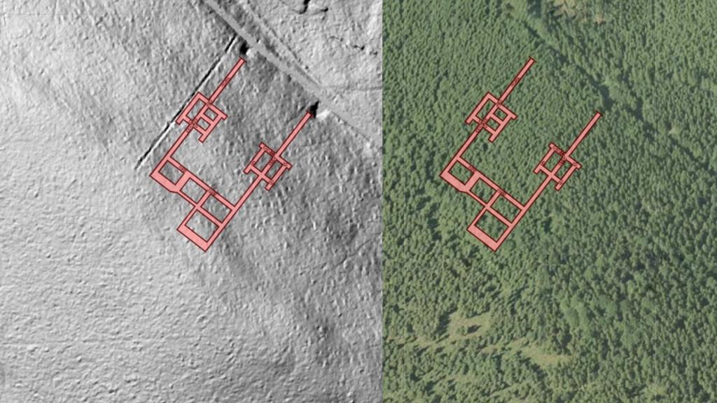"""Kompleks """"Sokolec"""" - Obraz: Geoportal - Rzut Podziemi: Les7007"""