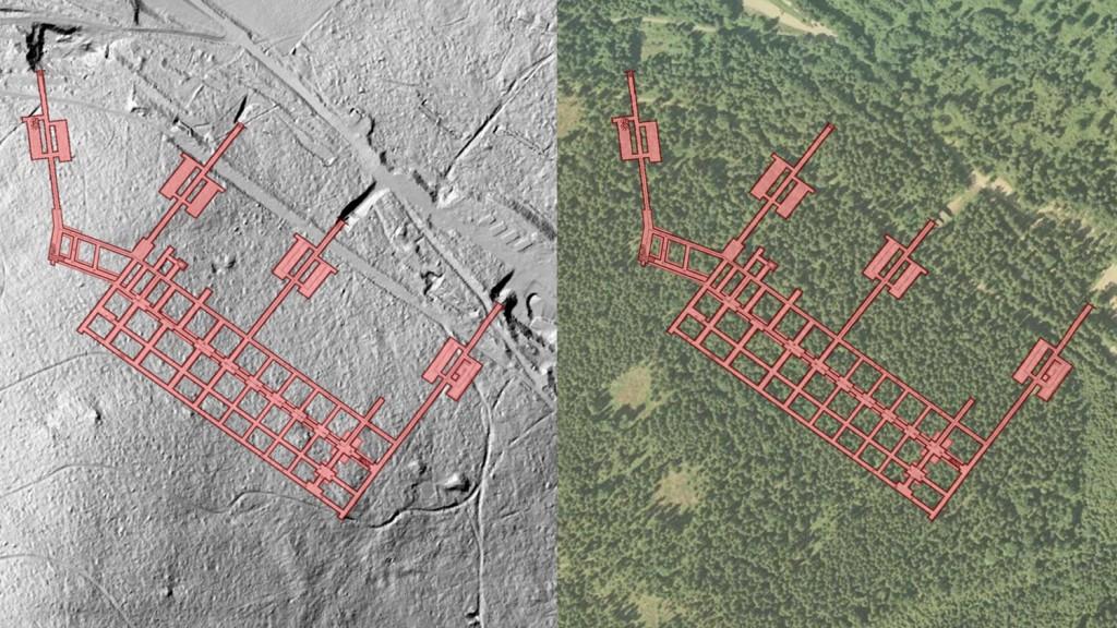 "Kompleks ""Włodarz"" - Obraz: Geoportal - Rzut Podziemi: Les7007"