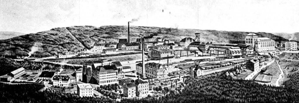 Kopalnia Wacław, po jej zamknięciu wybudowano fabrykę amunicji - Źródło: dolny-slask.org.pl