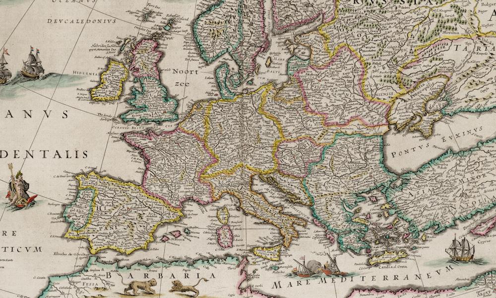 Dokladna Stara Mapa Europy Z 1644 Roku Eloblog