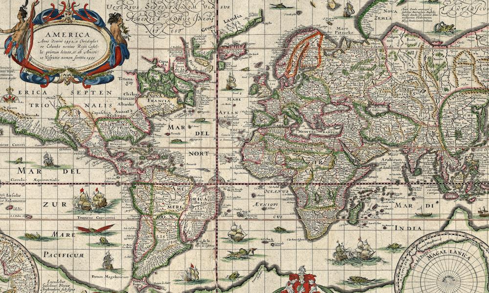 Szczegolowa Stara Mapa Swiata Z 1635 Roku Eloblog