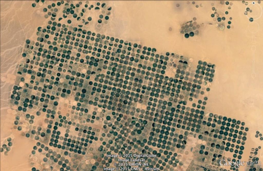 Pola uprawne w Arabii Saudyjskiej - 10 niezwykłych miejsc na świecie - Źródło: Google Earth
