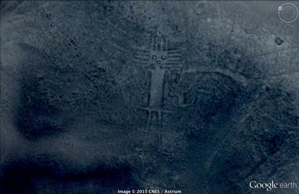 Prehistoryczna figura w Chile - 10 Niezwykłych Miejsc na Świecie - Źródło: Google Earth