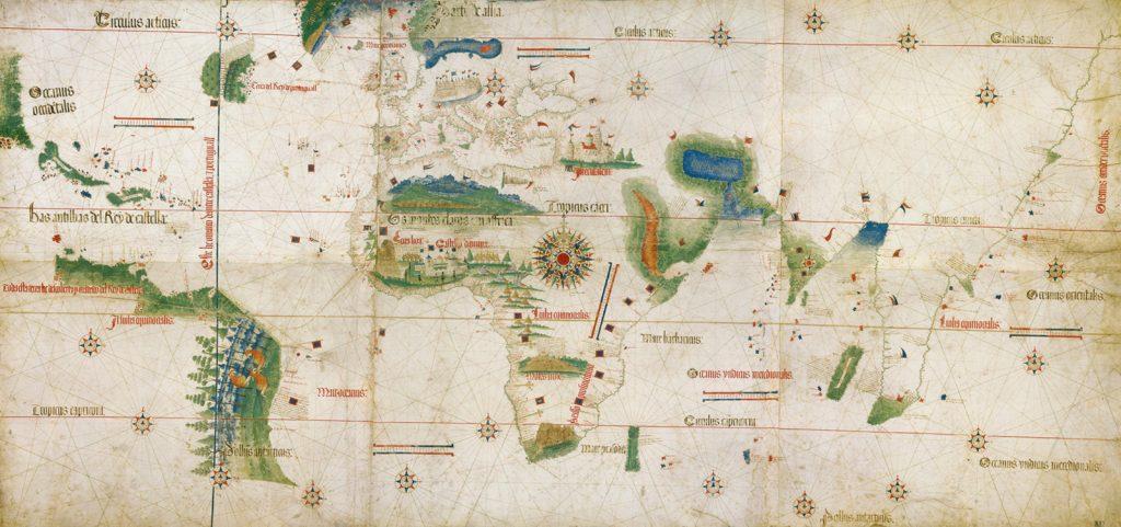 Niezwykła Portugalska mapa świata z 1502 roku