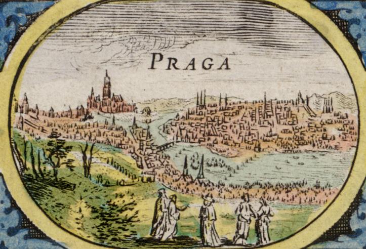 Praga z XVII wieku - Mapa Willema Blaeu'a