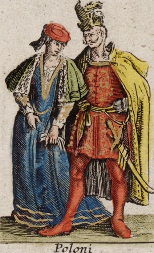 Polski strój z XVII wieku - Mapa Willema Blaeu'a