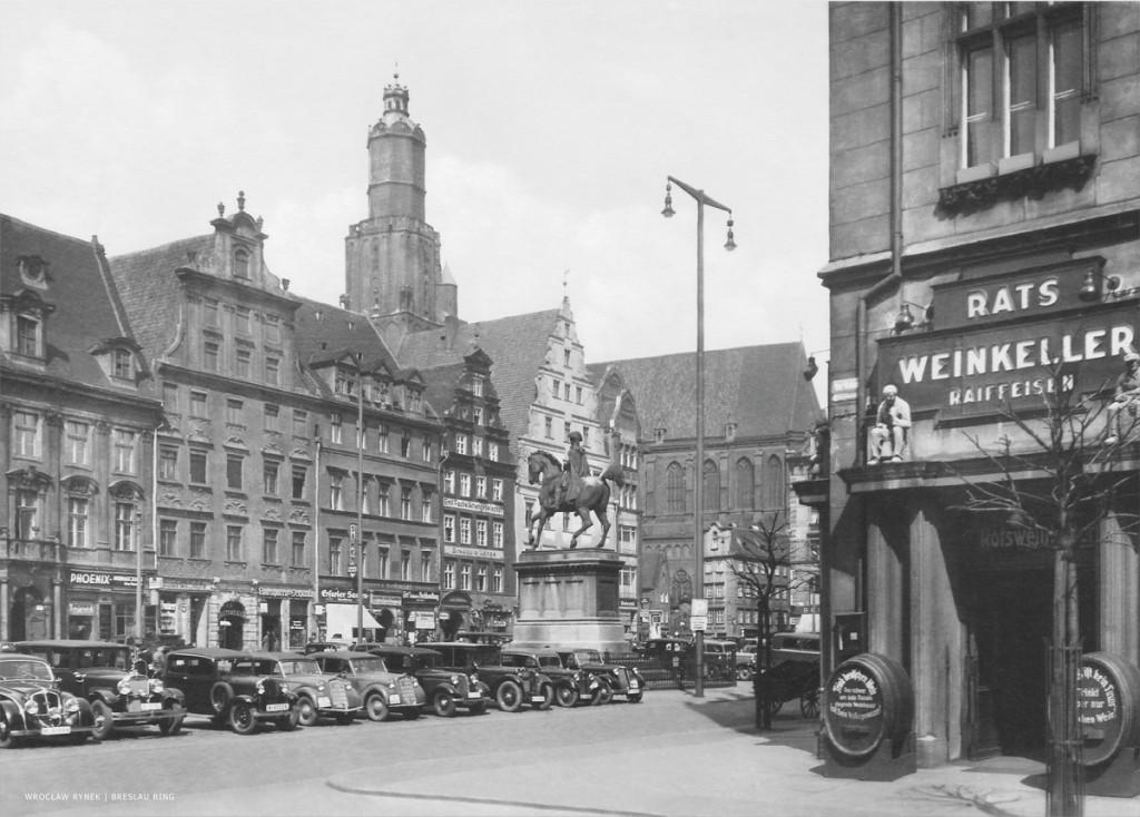 Zdjęcie Wrocławia z wojennej pocztówki rok 1942