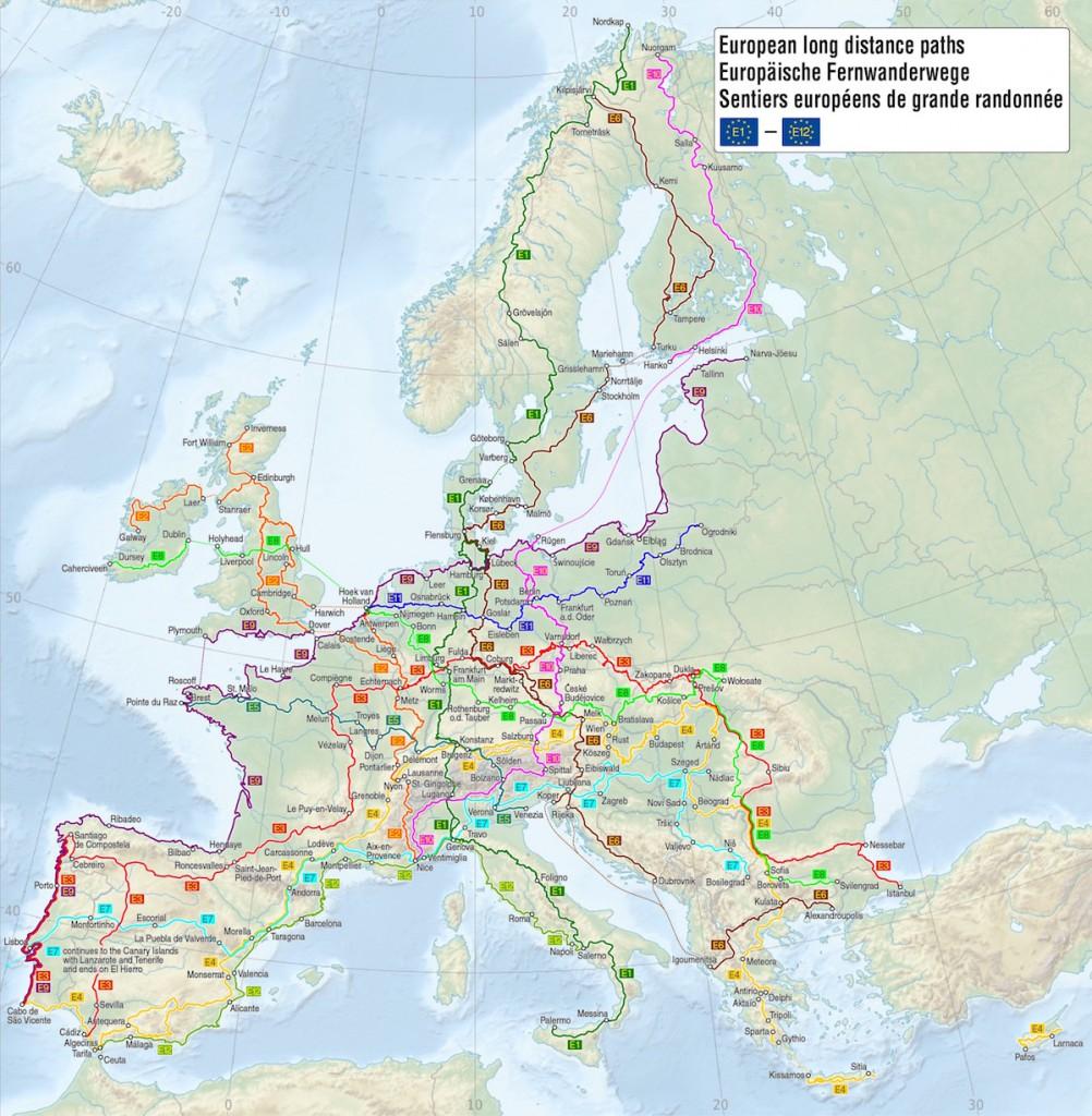 11 Europejskich Szlaków Wędrówkowych - Źródło: commons.wikimedia.org Autor: Maximilian Dörrbecker