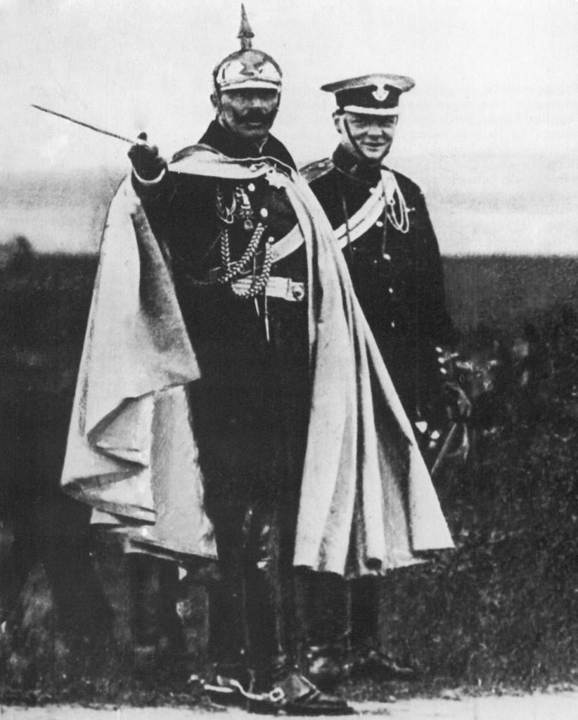 Wilhelm II Hohenzollern i Winston Churchill we Wrocławiu
