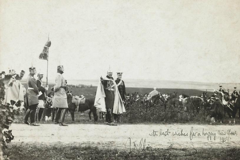 Winston Churchill i kajzer Wilhelm II podczas ćwiczeń we Wrocławiu 1906 rok - Źródło: dolny-slask.org.pl