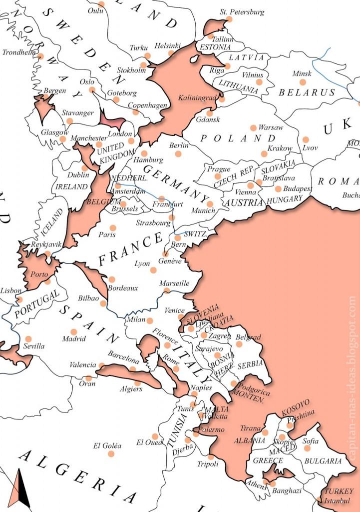 Zbliżenie na Europę - Autor: Massimo Pietrobon Źródło: capitan-mas-ideas.blogspot.com.es