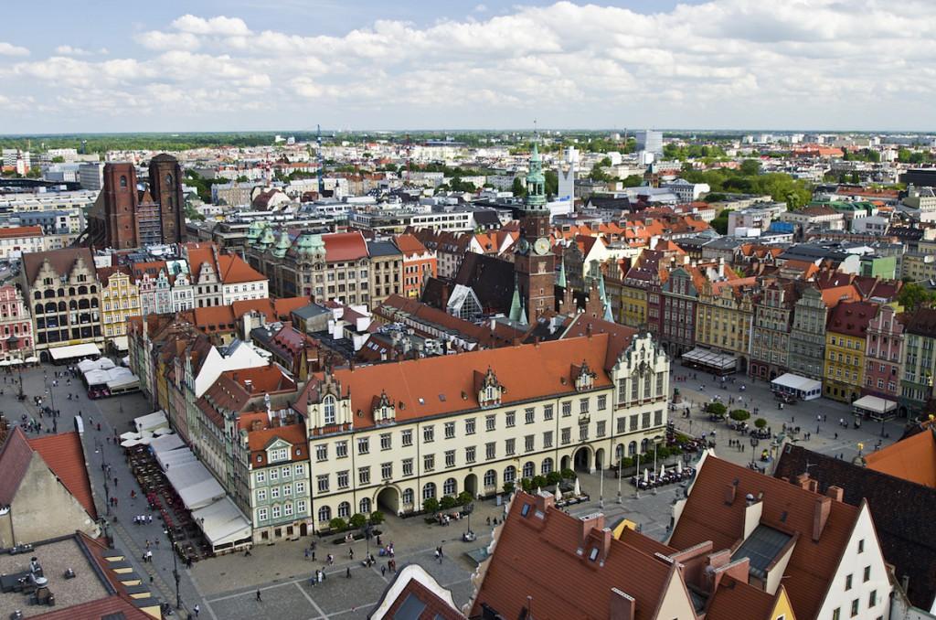 Widok z Kościoła Garnizonowego na Rynek - Foto: Adrian Sitko