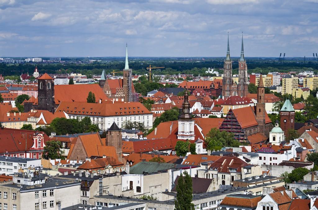 Widok z Kościoła Garnizonowego we Wrocławiu - Foto: Adrian Sitko