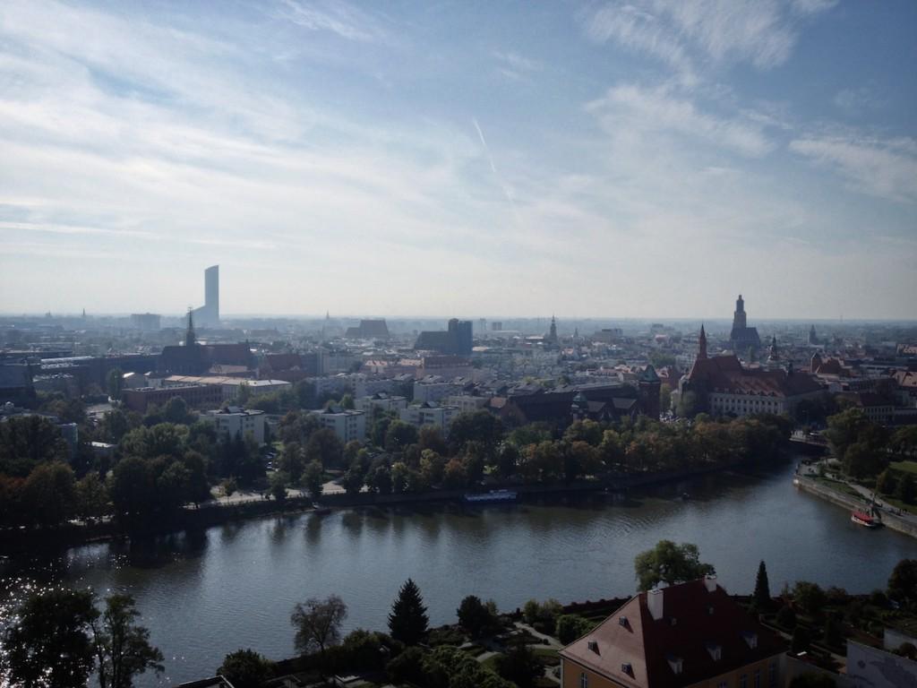 Widok z Katedry we Wrocławiu