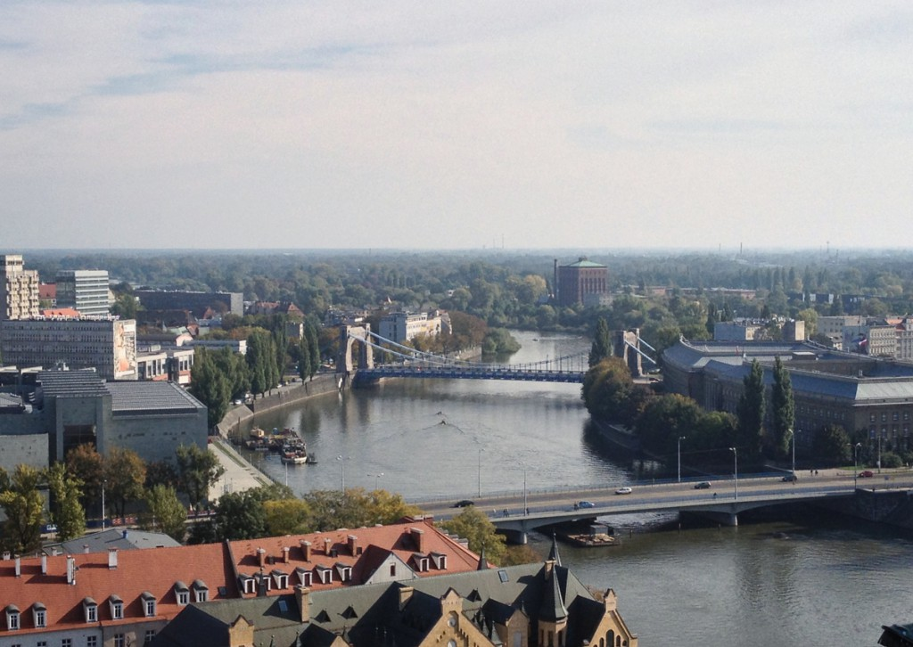 Widok z Katedry św. Jana Chrzciciela we Wrocławiu