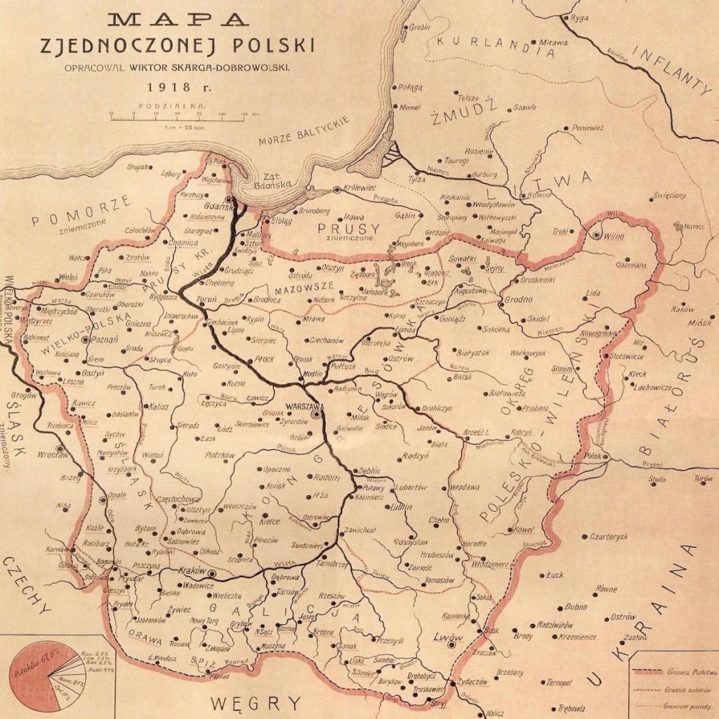 Mapa Zjednoczonej Polski z 1918 Roku - 10 Fascynujących Historycznych Map Polski