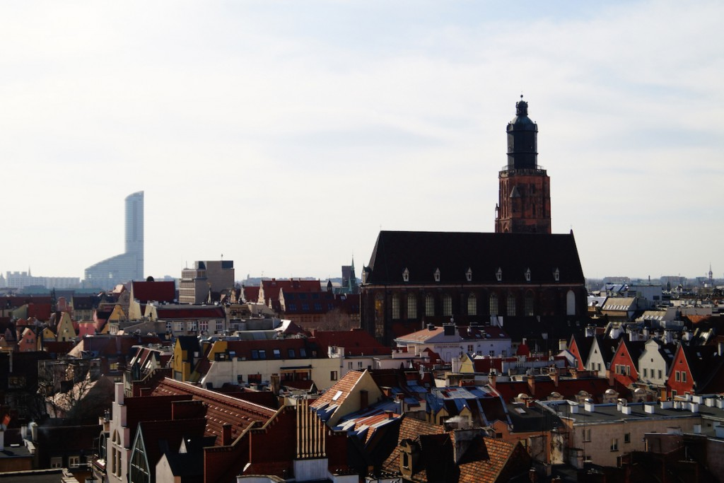Widok z Wieży Matematycznej we Wrocławiu