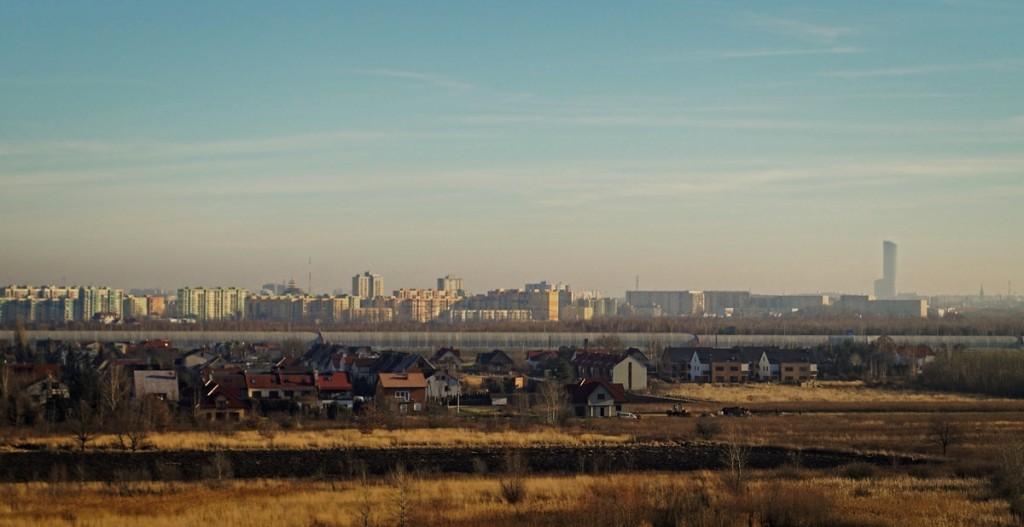 Widok z Orlego Gniazda na Wrocław