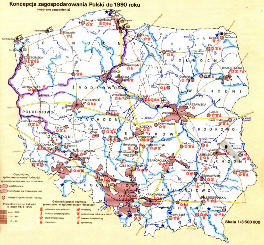 Plany Zagospodarowania Polski do 1990 Roku - 10 Fascynujących Historycznych Map Polski