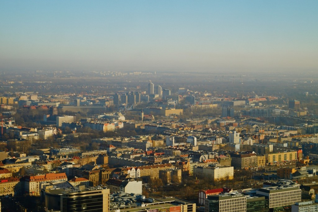 Widok ze Sky Towera we Wrocławiu