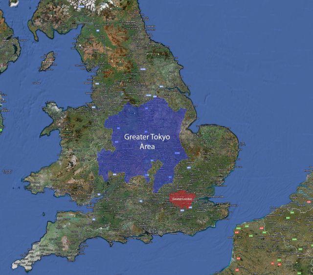 Tokio na tle Wysp Brytyjskich - 10 ciekawych i zaskakujących map