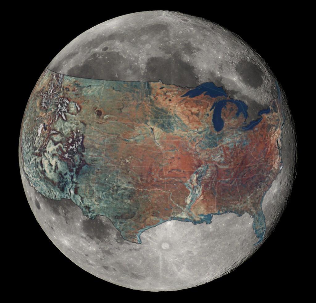 Wielkość USA i Księżyca - 10 Ciekawych i Zaskakujących Map