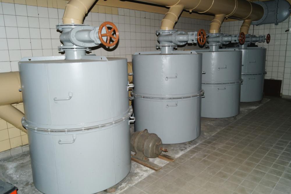 System filtrów, które zapewniały ochronę przed atakiem broni chemicznej