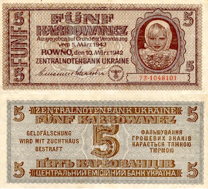 Karbowanez - Waluta Okupacyjna - 10 Ciekawostek z Frontów II Wojny Światowej