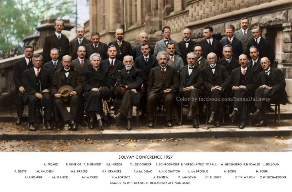 Zdjęcie naukowców z 5. Kongresu Solvaya - Oryginalne foto: Benjamin Couprie Autor: Sanna Dullaway