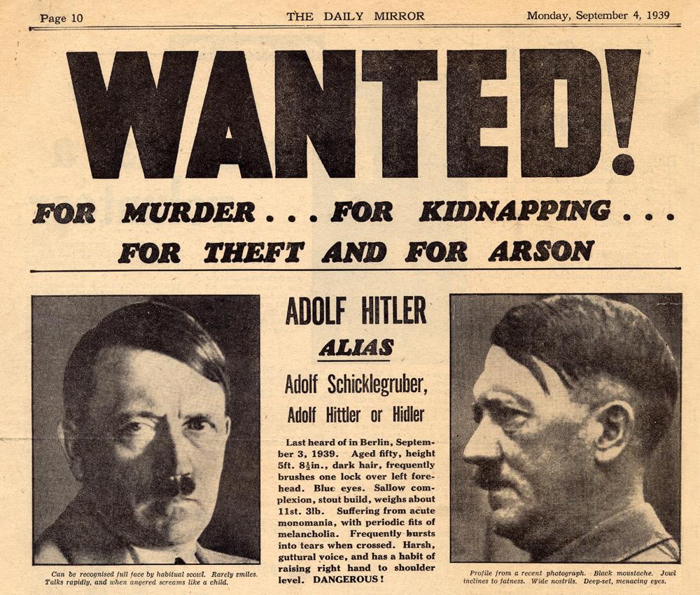 List gończy za Adolfem Hitlerem - 10 ciekawostek z frontów II wojny światowej