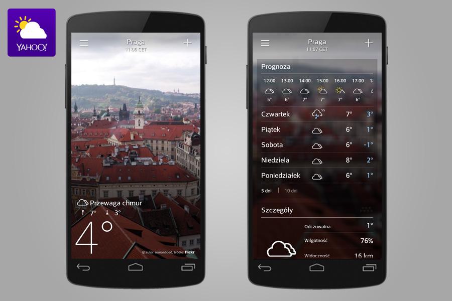 Pogoda Yahoo - 14 aplikacji przydatnych w turystyce za granicą